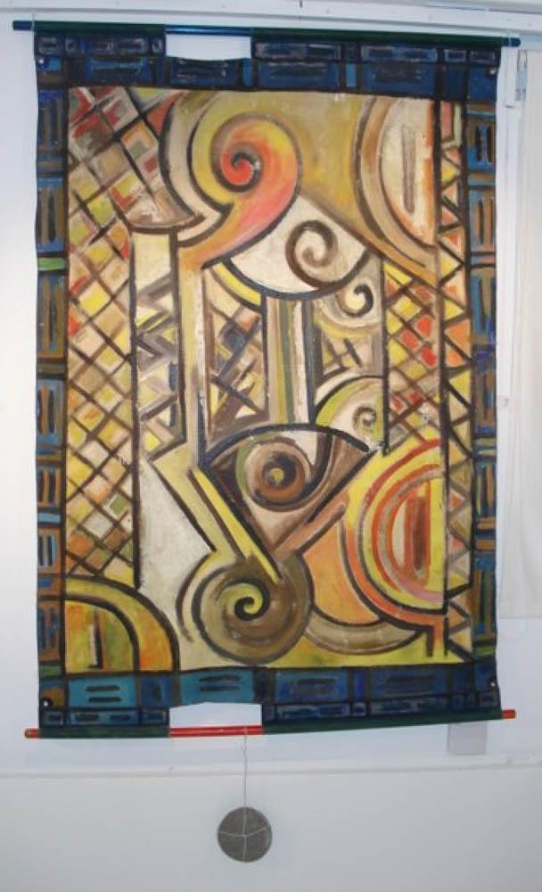 Invocations amérindiennes. Peinture originale de l'artiste Victor Anicet