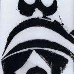 La marchande de poissons. Dessin à l'encre de chine de l'artiste Victor Anicet. Oeuvre originale. Année 1970