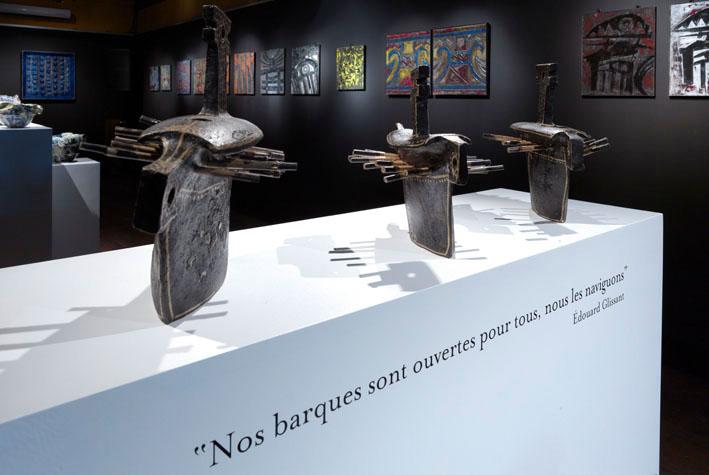 Caravelles. Céramique de Victor Anicet exposée en 2012 aux Foudres HSE.