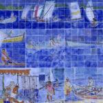 fresque Fond Lahaye. Oeuvre murale de l'artiste martiniquais Victor Anicet