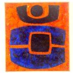 Carcan 3. peinture de l'artiste Victor Anicet.  Oeuvre originale. Années 1975