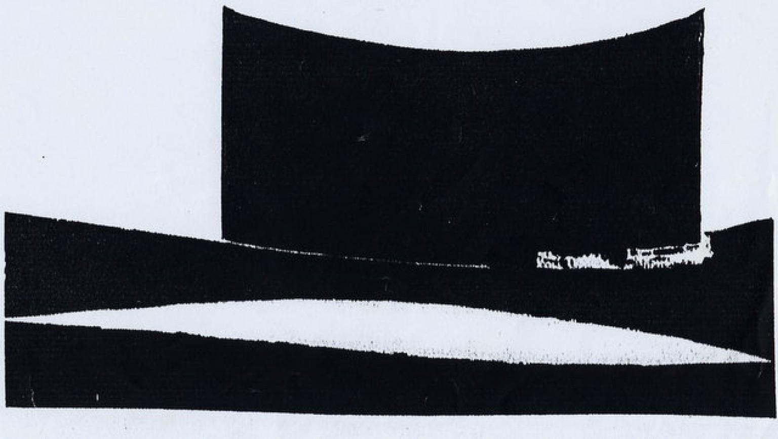 Le négrier. Dessin à l'encre de chine de l'artiste Victor Anicet. Oeuvre originale. 1970